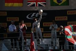 Lewis Hamilton, Mercedes AMG F1 Team; Sebastian Vettel, Ferrari; Felipe Massa, Williams