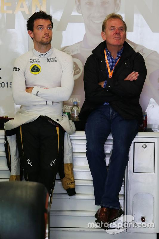 Jolyon Palmer, Lotus F1 com seu pai Jonathan Palmer