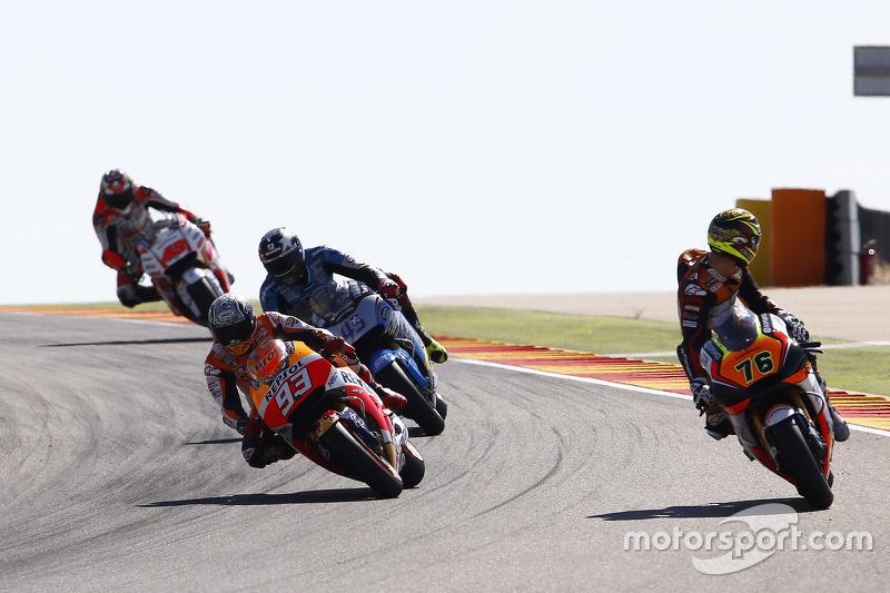 Лоріс Баз, Forward Racing Yamaha та Марк Маркес, Repsol Honda Team та Скотт Реддінг, Marc VDS Racing