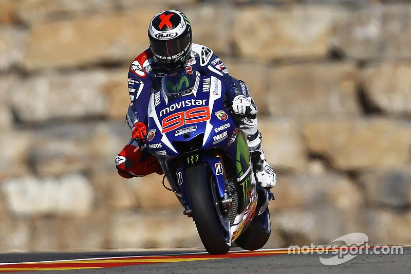 Jorge Lorenzo, Yamaha Factory Racing, en el GP de Aragón 2015