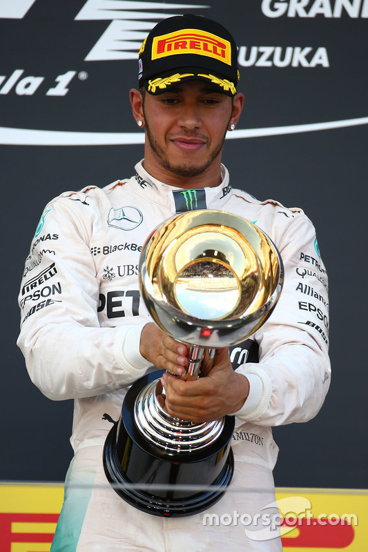 Winnaar Lewis Hamilton, Mercedes AMG F1 Team