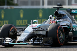 El ganador, Lewis Hamilton, Mercedes AMG F1