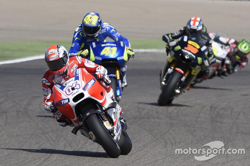 Andrea Dovizioso, Ducati Team and Aleix Espargaro, Team Suzuki MotoGP and Bradley Smith, Tech 3 Yama