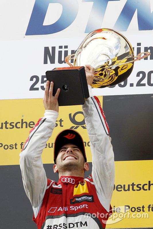 Podium: winner Miguel Molina, Audi Sport Team Abt
