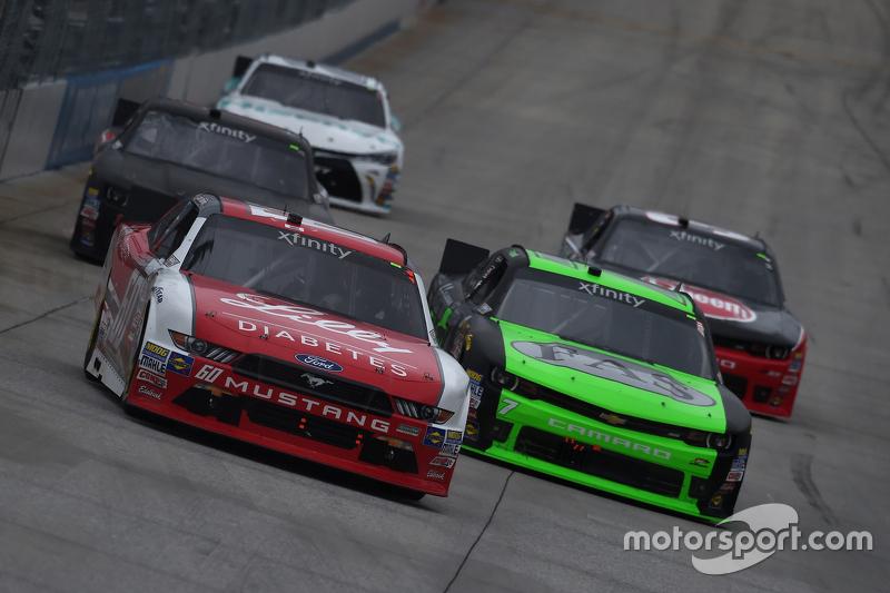 Ryan Reed, Roush Fenway Racing Ford and Regan Smith, JR Motorsports Chevrolet