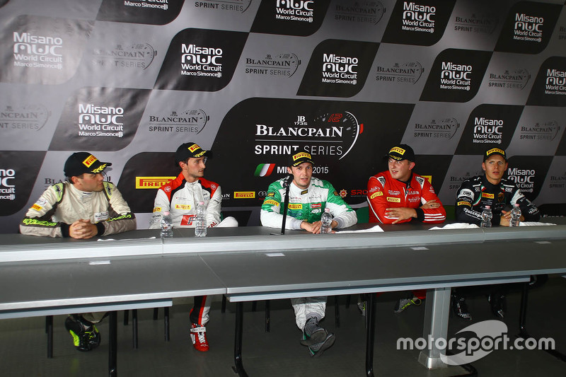 Press conference: polesitter Marco Seefried and Norbert Siedler