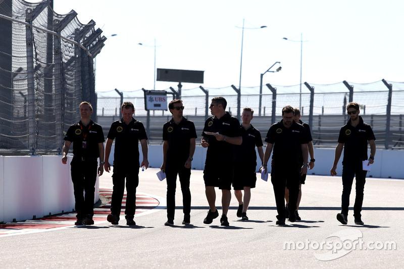 Jolyon Palmer, Lotus F1 Team, und Romain Grosjean, Lotus F1 Team