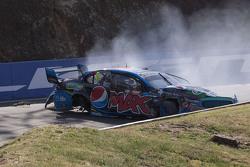 Chaz Mostert, Prodrive Racing Australia Ford crash