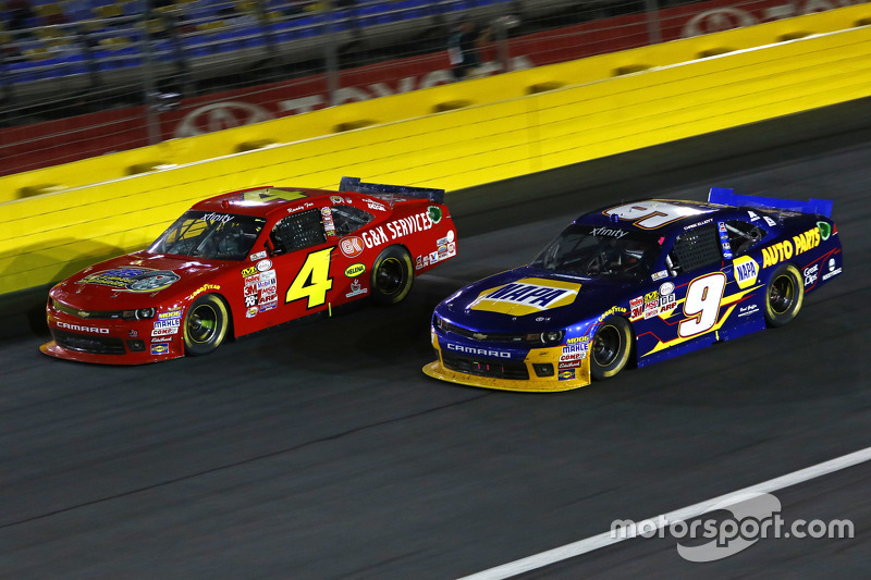 Ross Chastain, JD Motorsports Chevrolet and Chase Elliott, JR Motorsports Chevrolet