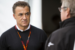 Jean Alesi, in the GP2 paddock