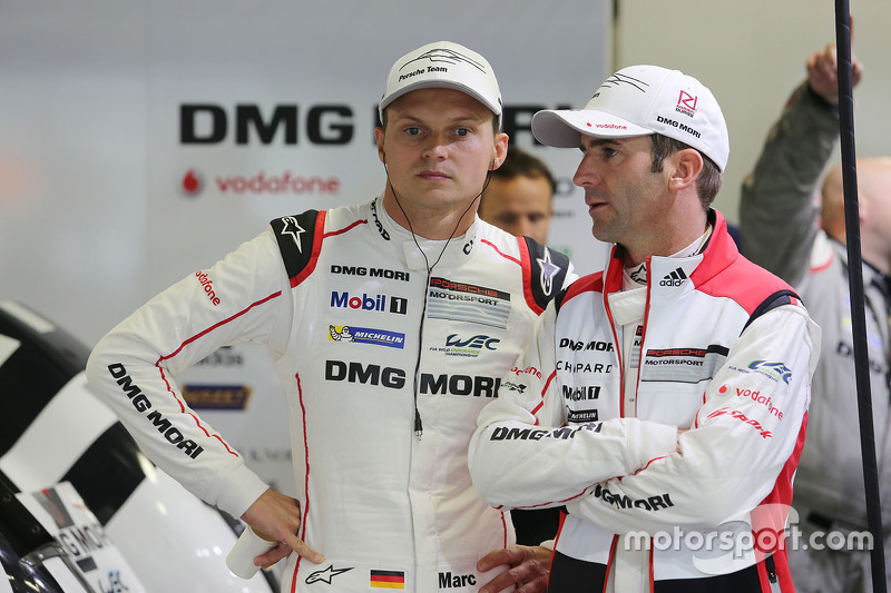 Romain Dumas with Marc Lieb, Porsche Team