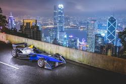 Formel-E-Auto in Hongkong