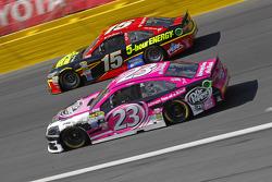 Jeb Burton, BK Racing Toyota; Clint Bowyer, Michael Waltrip Racing Toyota