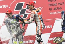 1. Dani Pedrosa, Repsol Honda Team; 2. Valentino Rossi, Yamaha Factory Racing