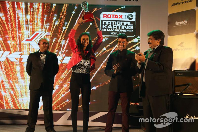 Mira Erda most promising driver  year award