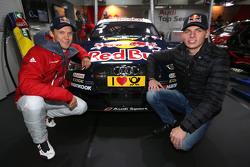 Max Verstappen, Red Bull Racing, met Mattias Ekström, Audi Sport Team Abt Sportsline, Audi A5 DTM