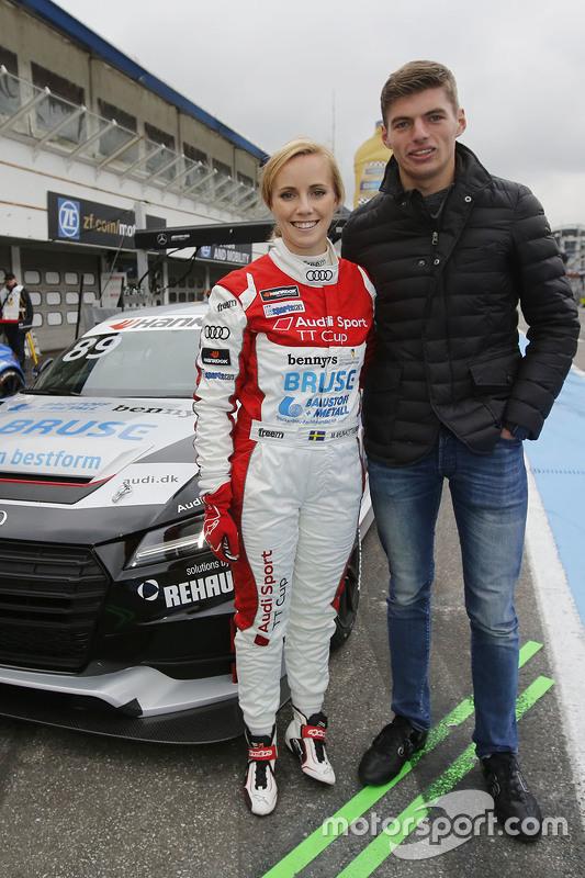 Мікаела Алін-Коттулінскі з бой-френдом Макс Ферстаппен, Red Bull Racing