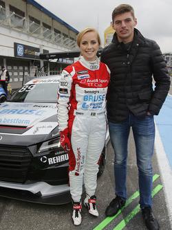 Mikaela Ahlin-Kottulinsky con il findanzato Max Verstappen, Red Bull Racing
