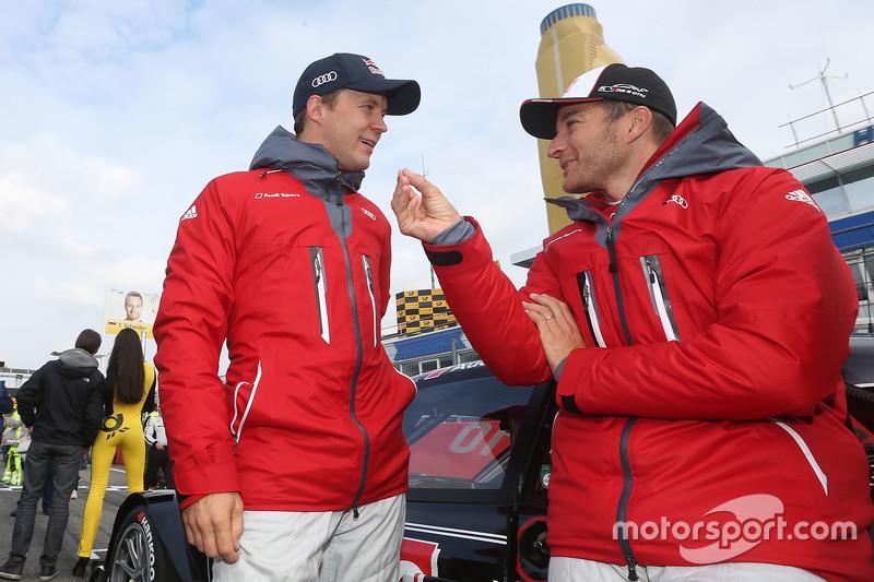 Mattias Ekström, Audi Sport Team Abt Sportsline, Audi A5 DTM and Timo Scheider, Audi Sport Team Phoe
