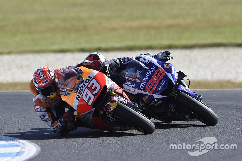 Марк Маркес, Repsol Honda Team випереджає Хорхе Лоренцо, Yamaha Factory Racing