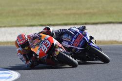 Marc Marquez, Repsol Honda Team sorpassa Jorge Lorenzo, Yamaha Factory Racing