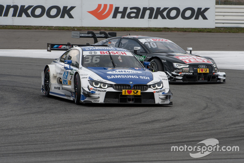 Maxime Martin, BMW Team RMG BMW M4 DTM; Timo Scheider, Audi Sport Team Phoenix Audi RS 5 DTM