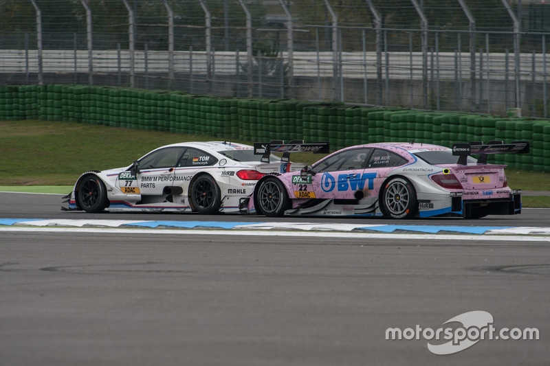 Martin Tomczyk, BMW Team Schnitzer BMW M4 DTM and Lucas Auer, ART Grand Prix Mercedes-AMG C63 DTM