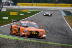 Jamie Green, Audi Sport Team Rosberg Audi RS 5 DTM leads Mattias Ekström, Audi Sport Team Abt Sportsline, Audi A5 DTM