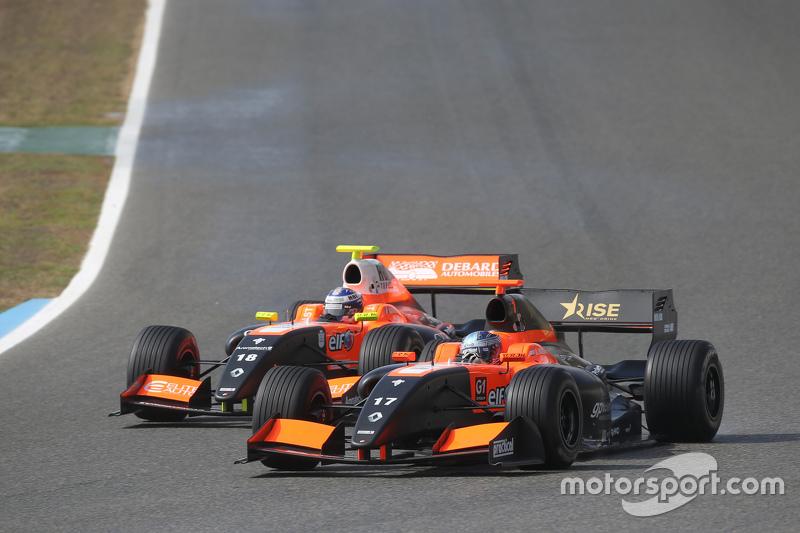 Roy Nissany, Tech 1 Racing and Aurelien Panis, Tech 1 Racing