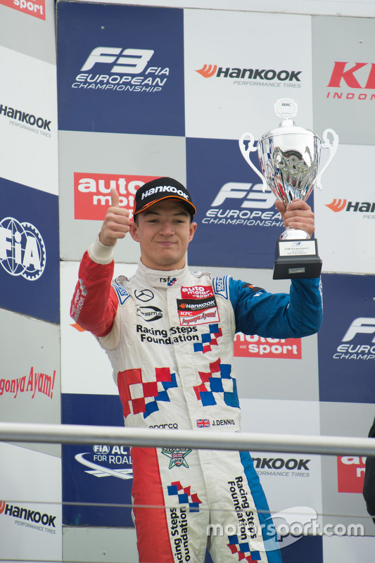 Race 1 second place Jake Dennis, Prema Powerteam Dallara Mercedes-Benz
