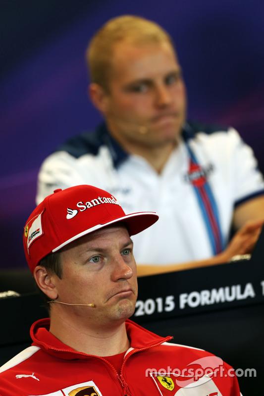 Kimi Raikkonen, Ferrari e Valtteri Bottas, Williams