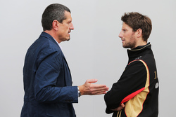 Günther Steiner, Haas F1 Team, Teamchef, mit Romain Grosjean, Lotus F1 Team