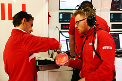 Manor Marussia F1 Team serve tea as FP2 is cancelled because of a severe thunderstorm