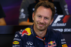 Christian Horner, Red Bull Racing teambaas in de FIA persconferentie