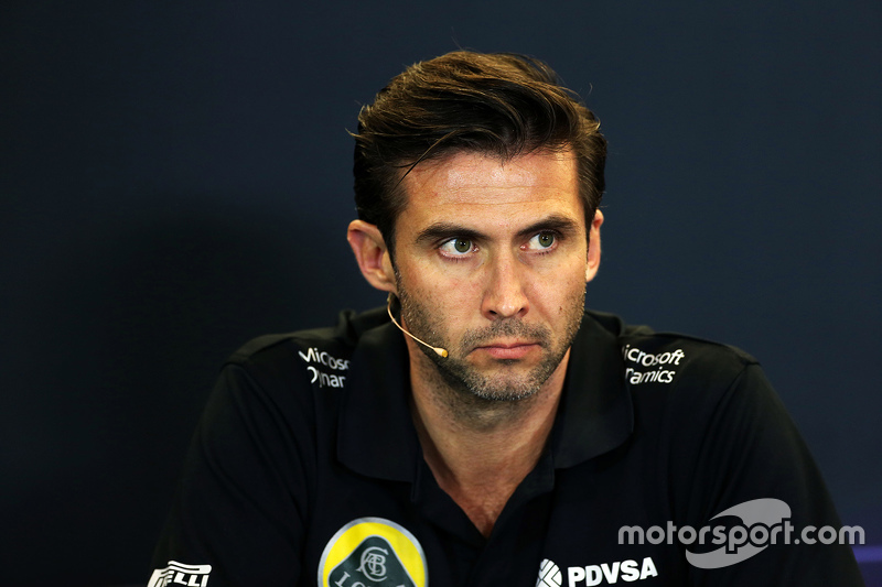 Matthew Carter, Lotus F1 Team CEO in the FIA Press Conference