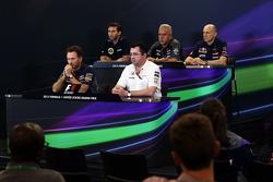 The FIA Press Conference: Matthew Carter, Lotus F1 Team CEO; Dr. Vijay Mallya, Sahara Force India F1