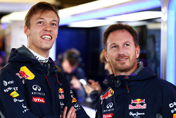 Daniil Kvyat, Red Bull Racing met Christian Horner, Red Bull Racing Teambaas