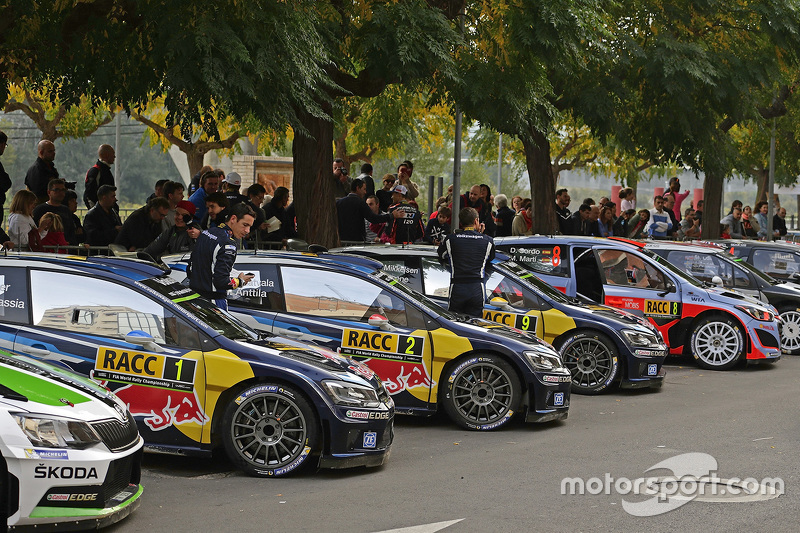 Rally cars ready for action