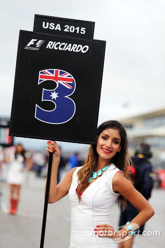 Chica de la parrilla para Daniel Ricciardo GP de Estados Unidos