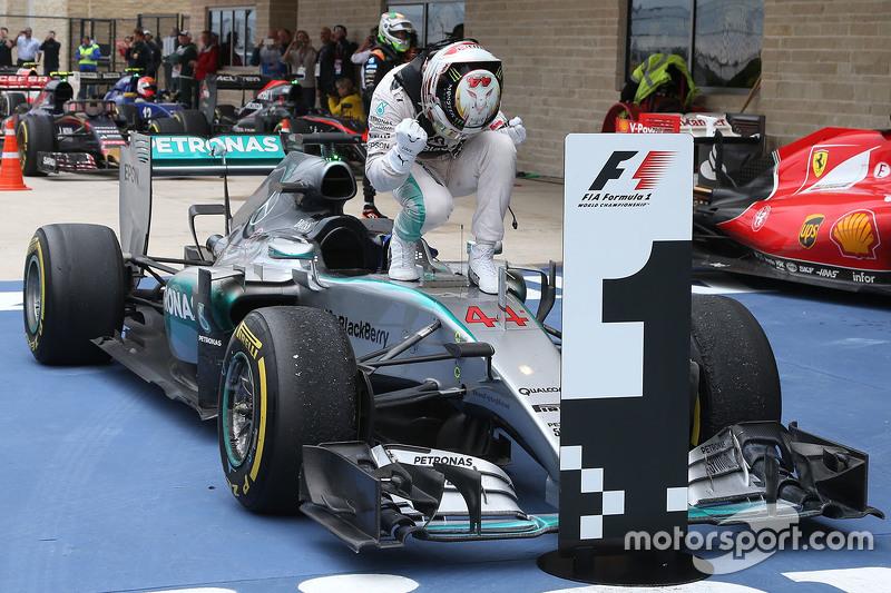 7º Lewis Hamilton - 19 carreras - De Italia 2014 a Italia 2015 - Mercedes