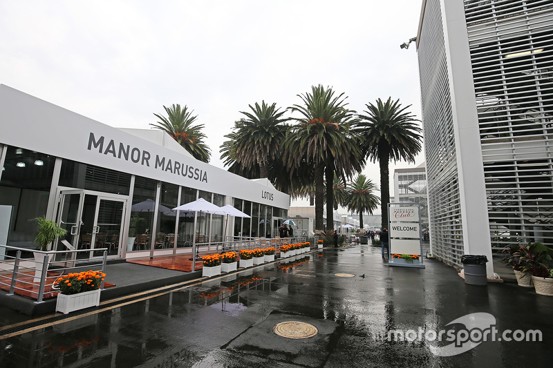 Paddock building for Manor Marussia F1 Team