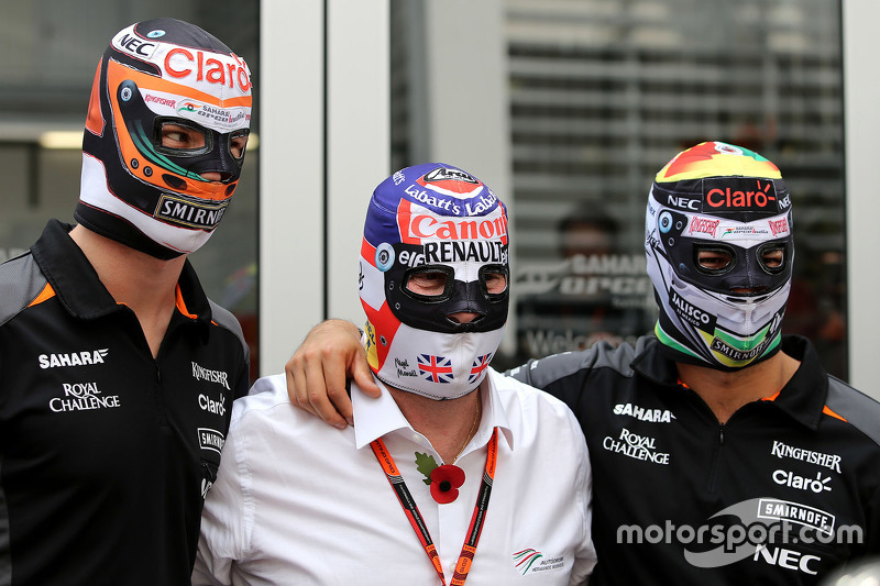 Nico Hulkenberg, Sahara Force India, Nigel Mansell, Sergio éerez, Sahara Force India