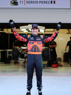 Sergio Perez, Sahara Force India F1 in special Mexico themed livery race suit