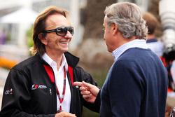 Emerson Fittipaldi con Carlos Sainz