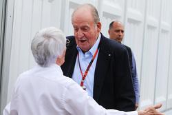 Bernie Ecclestone, met de voormalige Spaanse koning  Juan Carlos