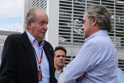 Former Spanish King Juan Carlos with Carlos Sainz