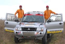 Team Fleetboard Dakar Leipzig presentation: Stephan Schott and Holm Schmidt with their Mitsubishi Pajero