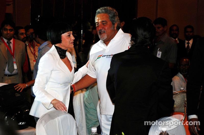 Vijay Mallya CEO Kingfisher with guests