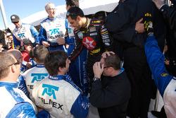 Juan Pablo Montoya and team members celebrate win