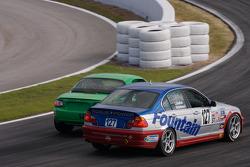 #145 Performance Autosport Mazda MX-5: Jim Daniels, Derek Whitis, #127 Fountain Motorsports BMW 330: Eduardo Gramisci, Peter London